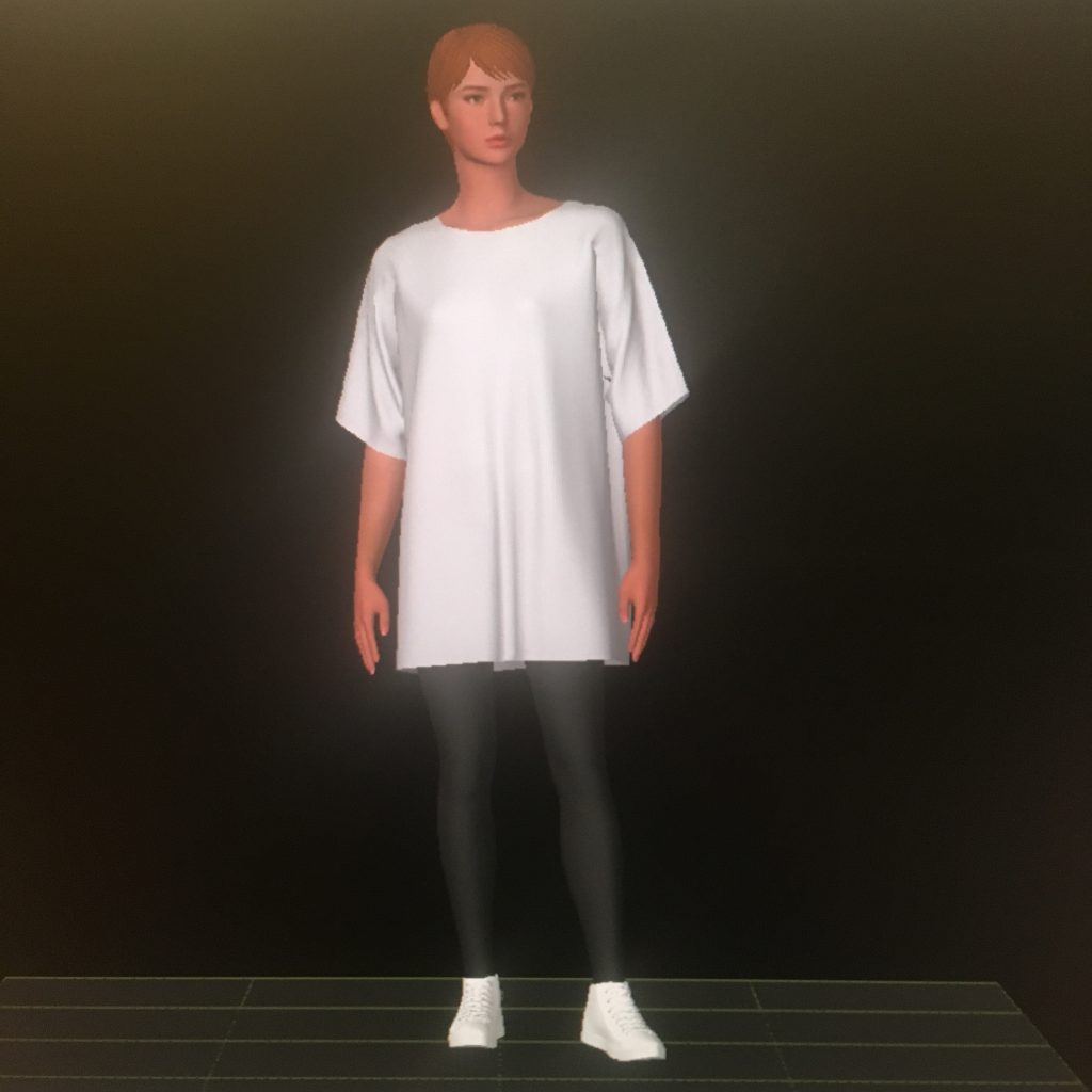 Shima Seiki SDS One APEX3 screenshot – knit garment simulation.