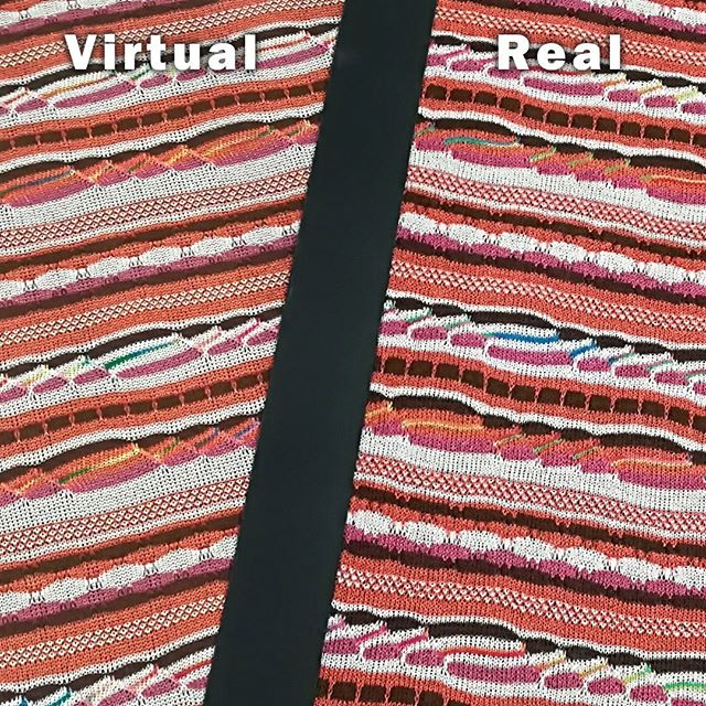 Virtual Vs Real.© Shima Seiki.
