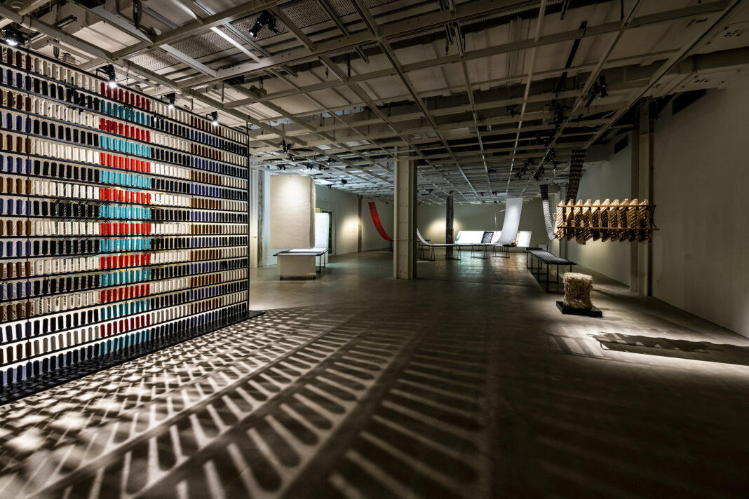 Exhibition view: Sudo Reiko: Making NUNO Textile, 2019. Photo courtesy: CHAT (Centre for Heritage, Arts and Textile), Hong Kong