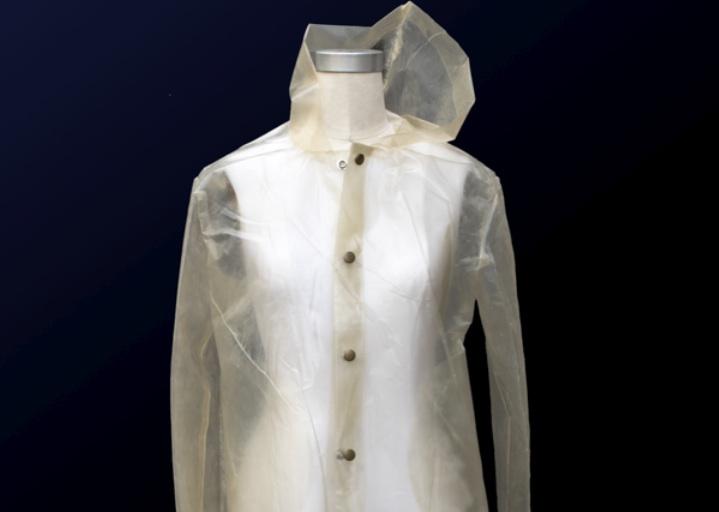 Carbon-negative raincoat. © Charlotte McCurdy.