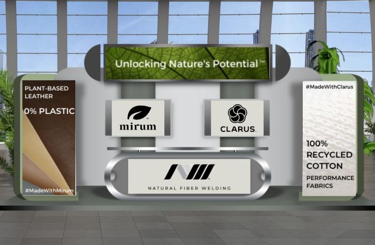 Natural Fiber Welding virtual booth at Plastic Free World Virtual Summit. © Plastic Free World.