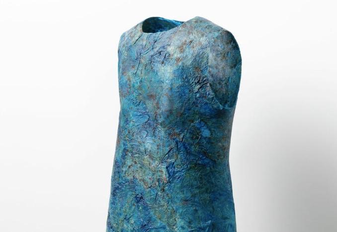 3-D jellyfish leather dress. © UNSEAM.