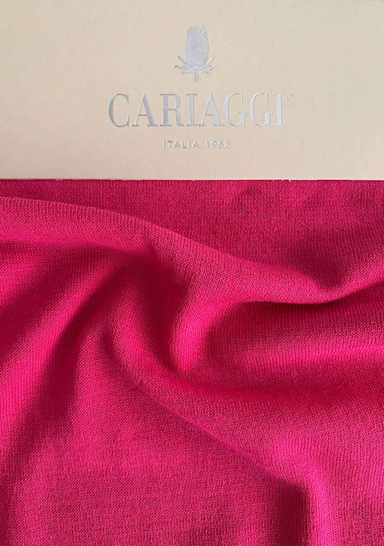 Cariaggi Whispers of Summer, lightweight worsted yarns bright colours in cashmere. © Pitti Immagine.
