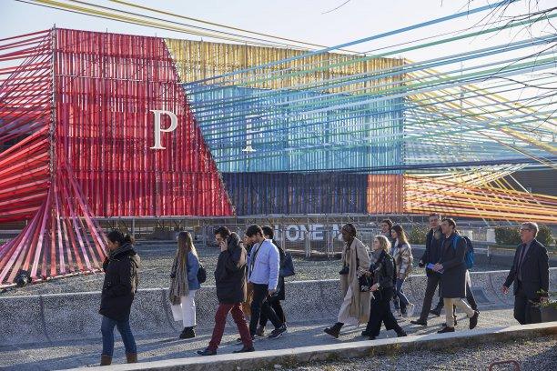 Pre-pandemic Pitti Filati goers in February 2020. © Pitti Immagine.
