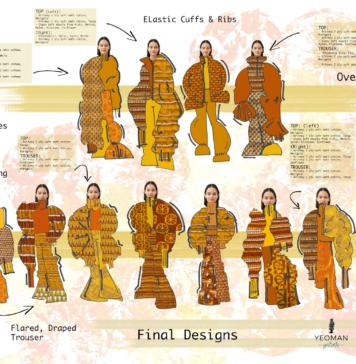 Emma's final designs. © Nottingham Trent University.