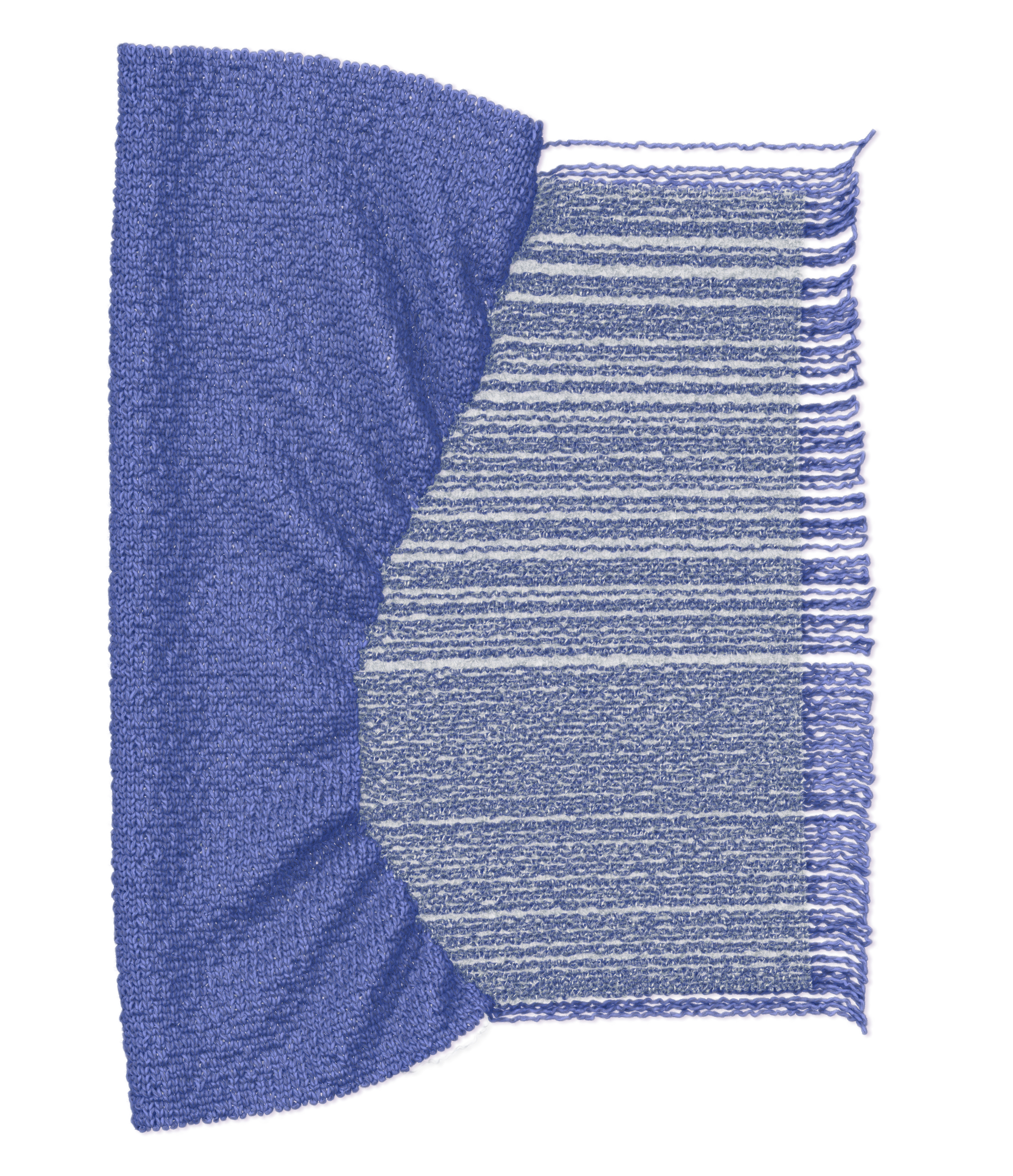 Virtual knitting rendering 4. © Linxi Zhu