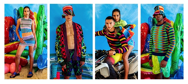Stripes and gradients are an integral element of AGR's brand DNA. © Knitwear Lab