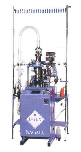 Japanese sock machine builder Nagata Seiki has developed a low energy single feed double cylinder sock knitting machine for broad rib and links-links knitting, which it claims reduces production costs.