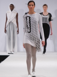 Design by Visionary Knitwear Award winner, Wonjee Chung - photo by Andy Espin