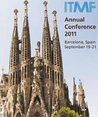 The ITMF Annual Conference 2011 takes place next month in Barcelona, Spain from 19-20 September 19/20, 2011 prior to the start of ITMA 2011 (September 22-29, 2011). Delegates will also participate in the ITMA/ITMF World Textile Summit 2011 on September 21.