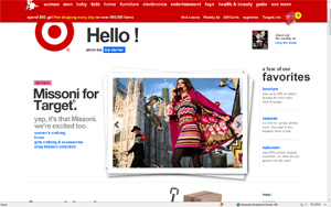 Cheap chic US based retailer Target's entire website crashed yesterday  when it launched online sales of its limited offerings of Missoni for Target, in a partnership with the iconic Italian luxury knitwear designer.