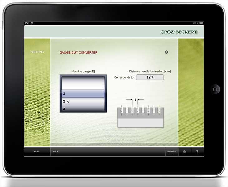 Knitting Calculator App : Groz beckert launches ipad app for knitters