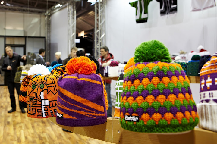 Colourful, chunky-gauge knits saw a revival in hats and accessories.