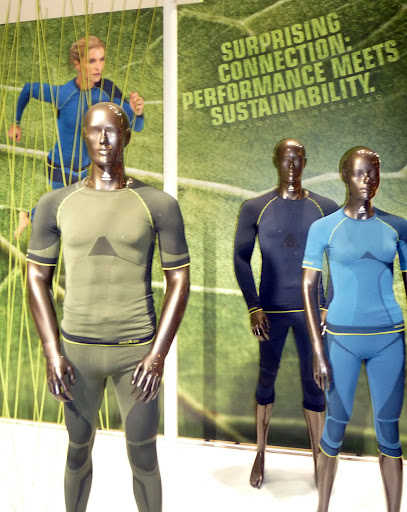 Odlo introduced Evolution Greentec, a seamless baselayer collection knit from recycled polyester.
