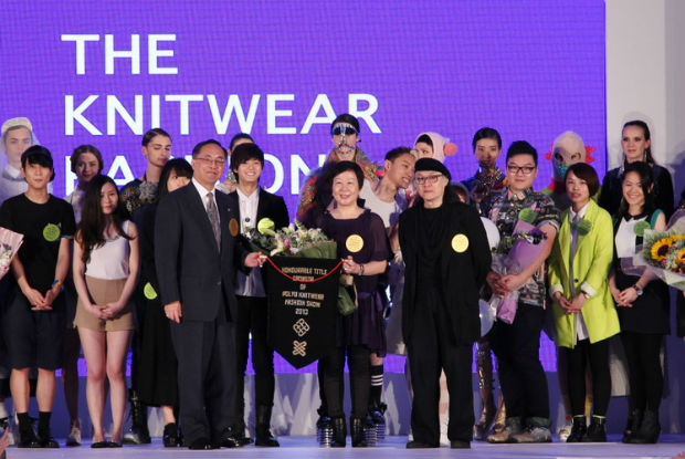 """Our Knitwear Fashion Show presented by ITC is one of the very few regular events of this kind around the world,"" said Professor Xin of the ITC. © PolyU"