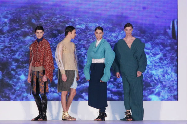 The raw materials and manufacturing techniques for the show were sponsored by knitwear producers and yarn suppliers © PolyU