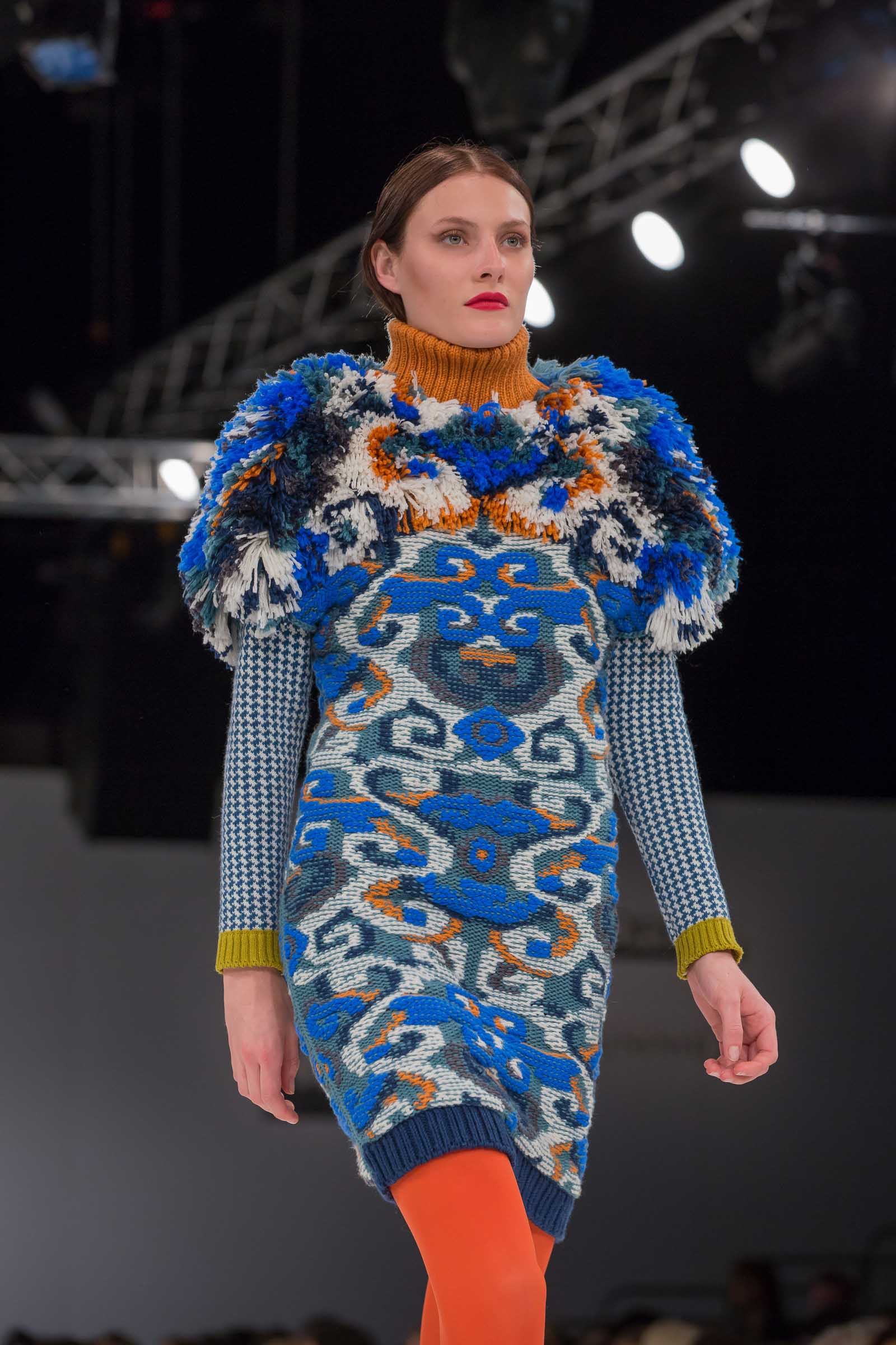 Knitwear by Thea Sanders. Photo: David Baird.