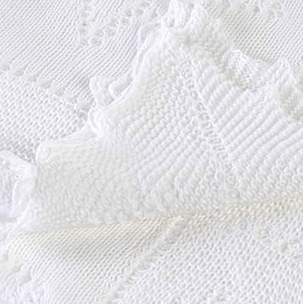 A typical luxury knitted lace shawl produced by G.H. Hurt of Nottinghamshire, England. © G.H. Hurt & Son.