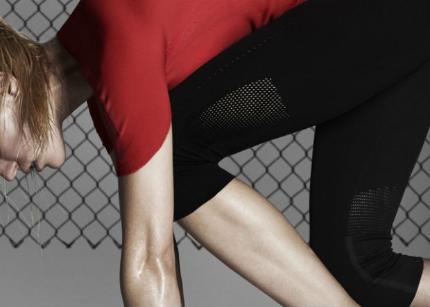 The Nike Pro Elite Knit was inspired by one of the latest Nike footwear developments, Nike Flyknit. © Nike