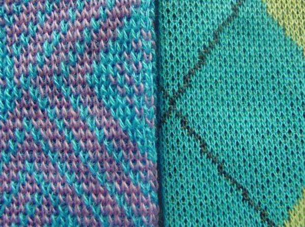 Dual gauge possibility with Mayer&Cie. knitwear machine