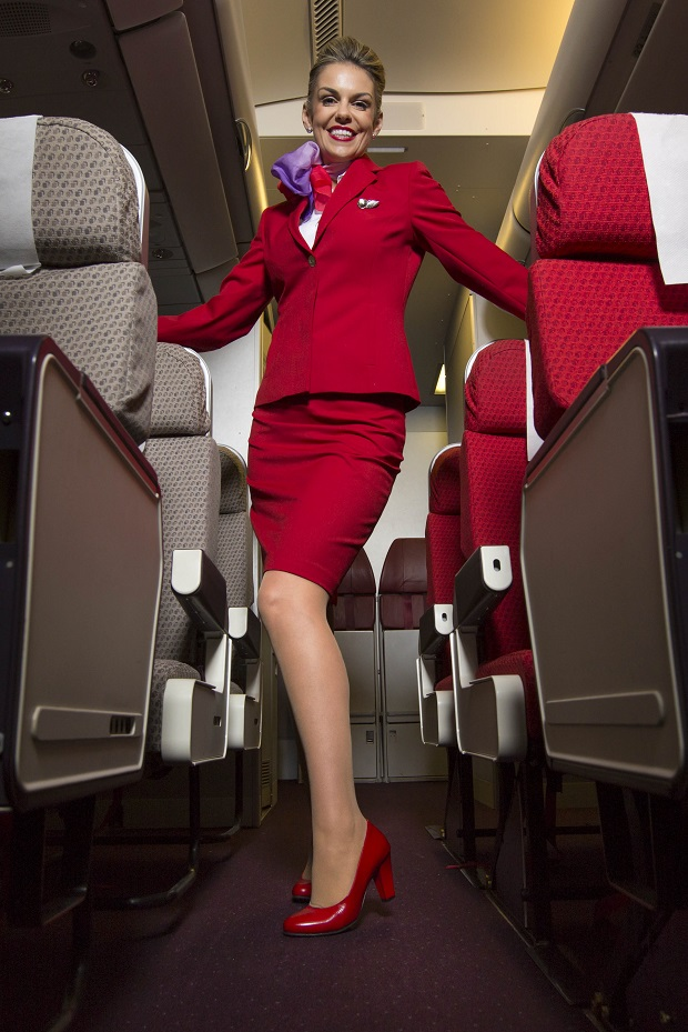 The hardworking legs that will be the first aim of the campaign will be those of the cabin crew and ground staff of Virgin Atlantic. © Pretty Polly