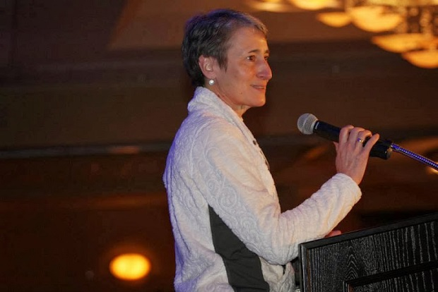 US Secretary of the Interior Sally Jewell address the Outdoor Industry Association's opening breakfast at the OR Show. © Outdoor Retailer