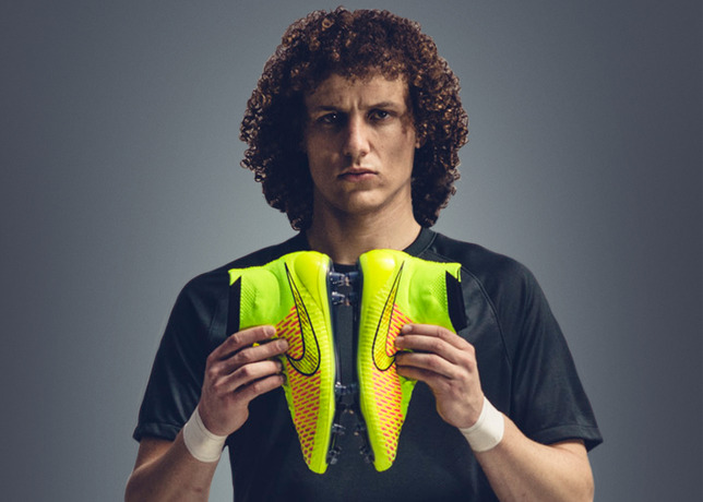 David Luiz with Nike magista. Copyright Nike Inc.