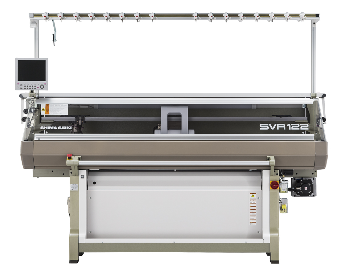 With its new workhorse SVR machine, Shima Seiki proposes new applications in shaping and integral knitting through higher production efficiency and flexibility. © Shima Seiki