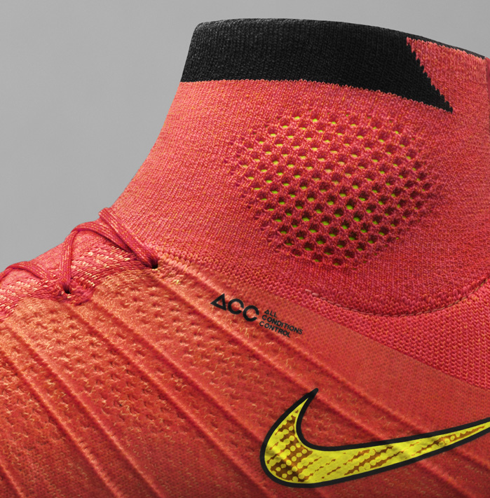 Nike Mercurial Superfly with high top Dynamic Fit Collar. © NIKE INC.