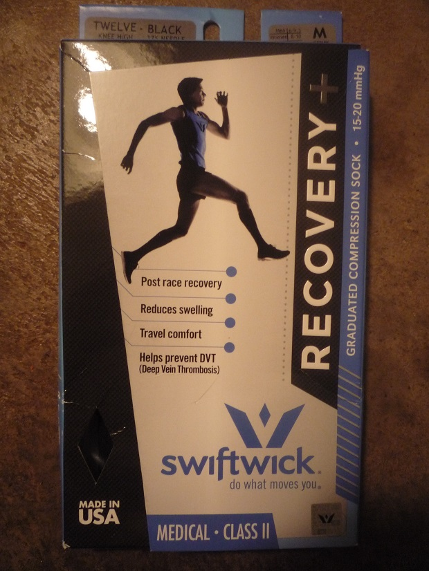 Swiftwick's Recovery is the first sport compression sock knit to meet medical specifications. © Debra Cobb