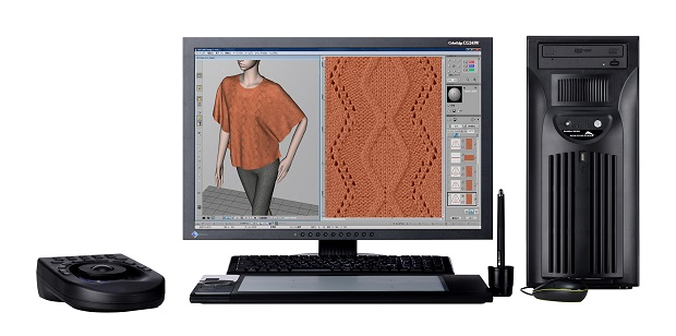 APEX3 supports design and simulation in a variety of other industries such as circular knitting, weaving, pile weaving and printing. © Shima Seiki
