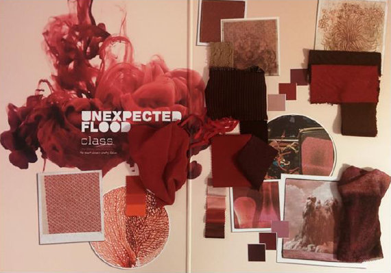 •	Unexpected Fluidity is a range of reds, burgundies and brown tones. © C.L.A.S.S.