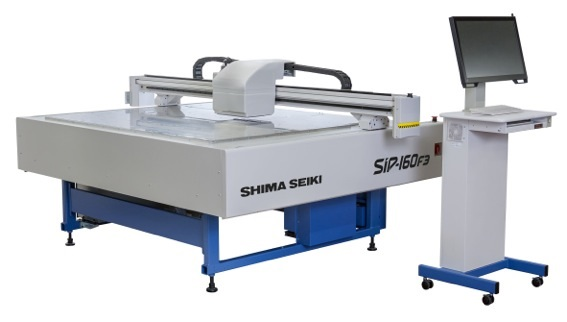 SIP-160F3 is the company's latest flatbed inkjet printing machine. © Shima Seiki