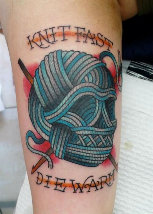 Knitting Tattoo Images : Knitting ink