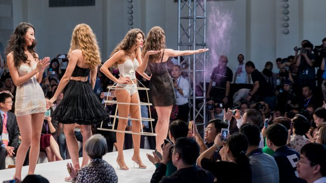 The three Intimate Extravaganza fashion showcases on 20 October were a success. © Interfiliere Shanghai / Shanghai Mode Lingerie