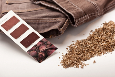 Earthcolors dyes are derived from almond shells, saw palmetto, rosemary leaves, and other natural products. © Archroma