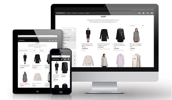 Recently redeveloped, The Woolmark Company's Merino.com website aims to increase consumer engagement. © The Woolmark Company