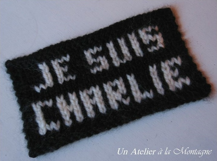 """Je suis Charlie"" swatch."