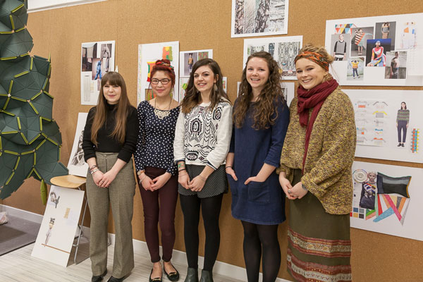 Five Textiles students from the University of Huddersfield entered the competition with Shima Seiki. © Shima Seiki Europe