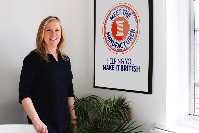Kate Hills, founder and CEO of Make it British, which organises the event. © Meet the Manufacturer
