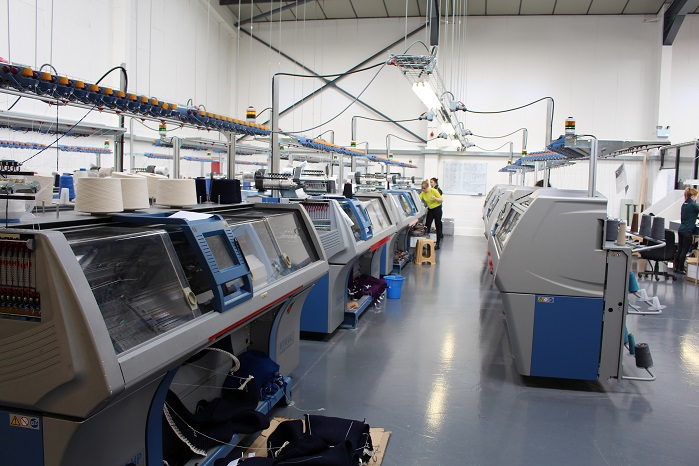 Albion has invested in the very latest flat knitting machines from leading German knitting machine builder Stoll.