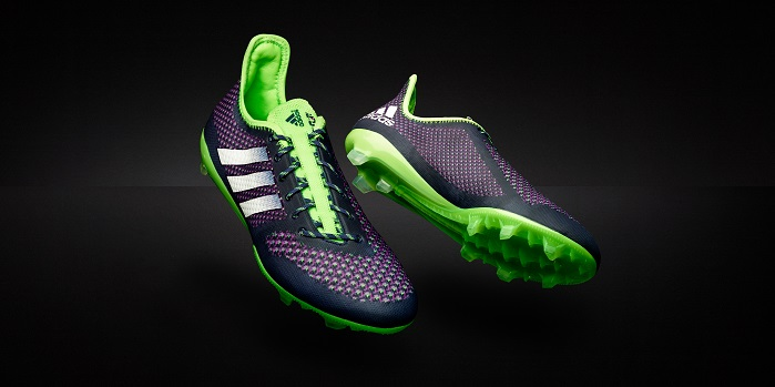 The limited edition adidas Primeknit 2.0 cleat is available to purchase from April 22. © adidas