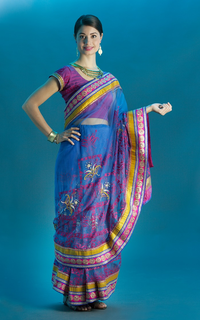 A sari made from a burnout fabric produced on an HKS 4. © Karl Mayer