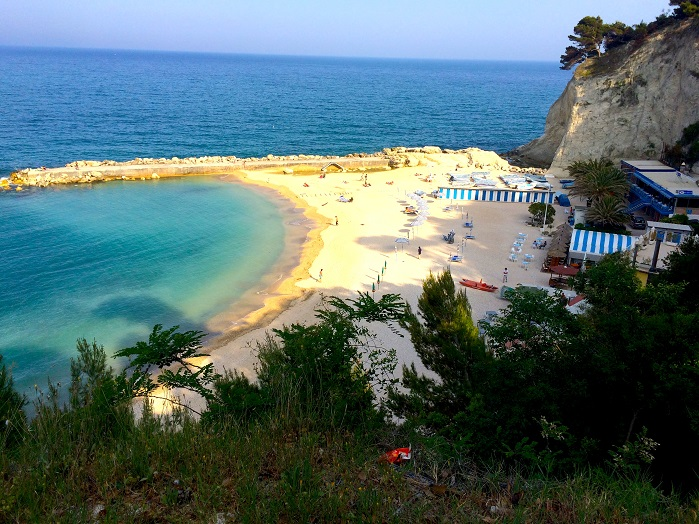 Italy's Marche region is bordered by the Adriatic Sea to the east. The narrow coastal strip is dotted with seaside towns, white cliffs and beautiful beaches.