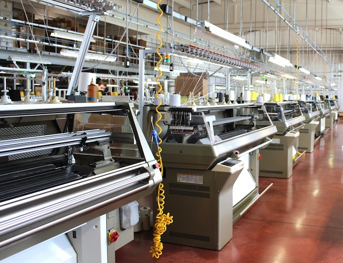 Shima Seiki WHOLEGARMENT machines in action at Sabry Maglieria in Montefano.