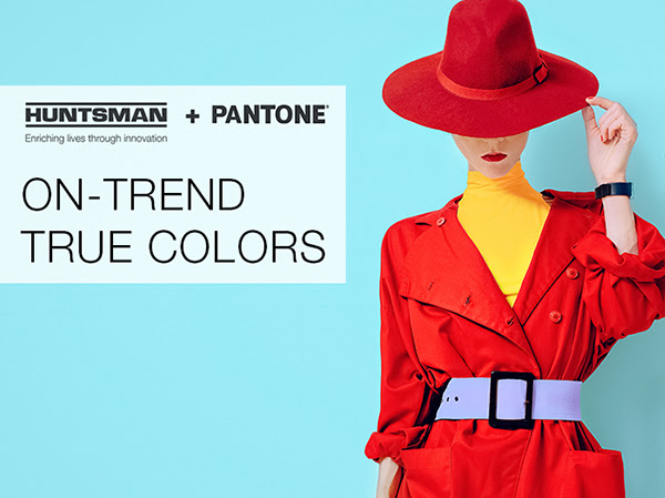 The 210 dye formulations include shades with pale, medium, dark, intense dark and brilliant shades, and even deep black. © Huntsman Textile Effects / Pantone