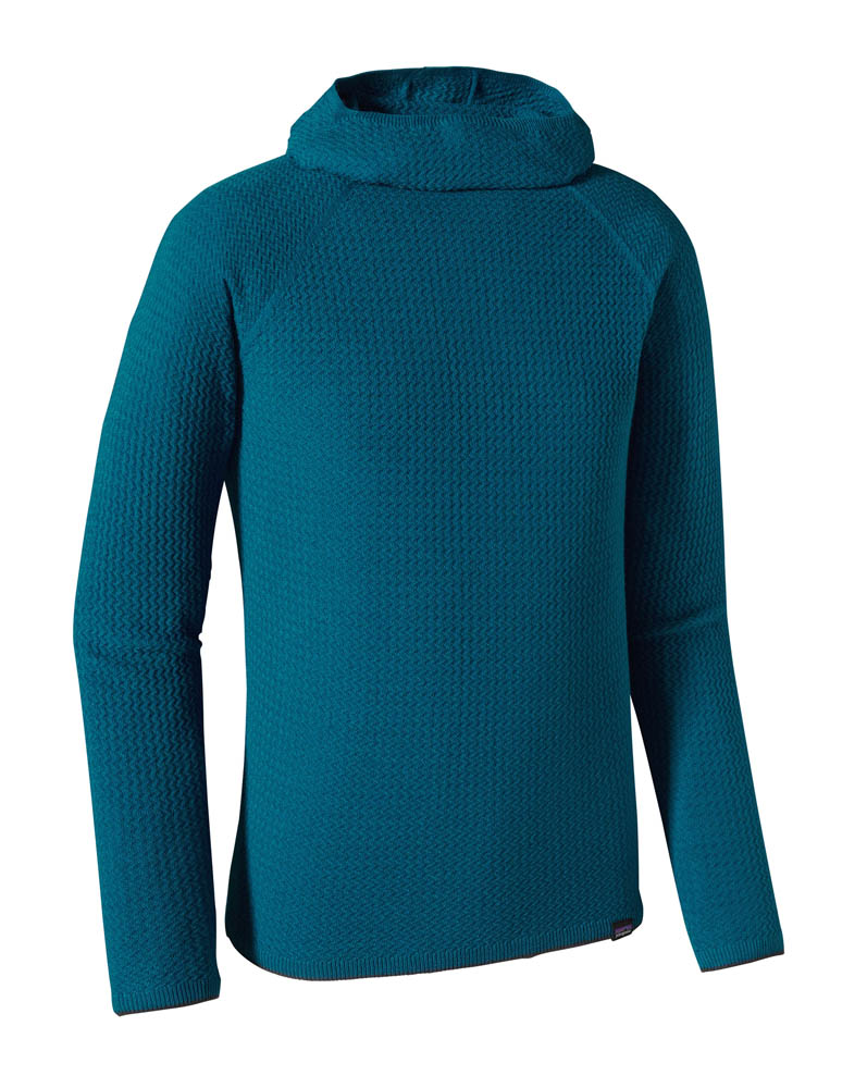 Patagonia's Merino Air base layer hoody, knit on Shima Seiki Wholegarment machinery. © Patagonia