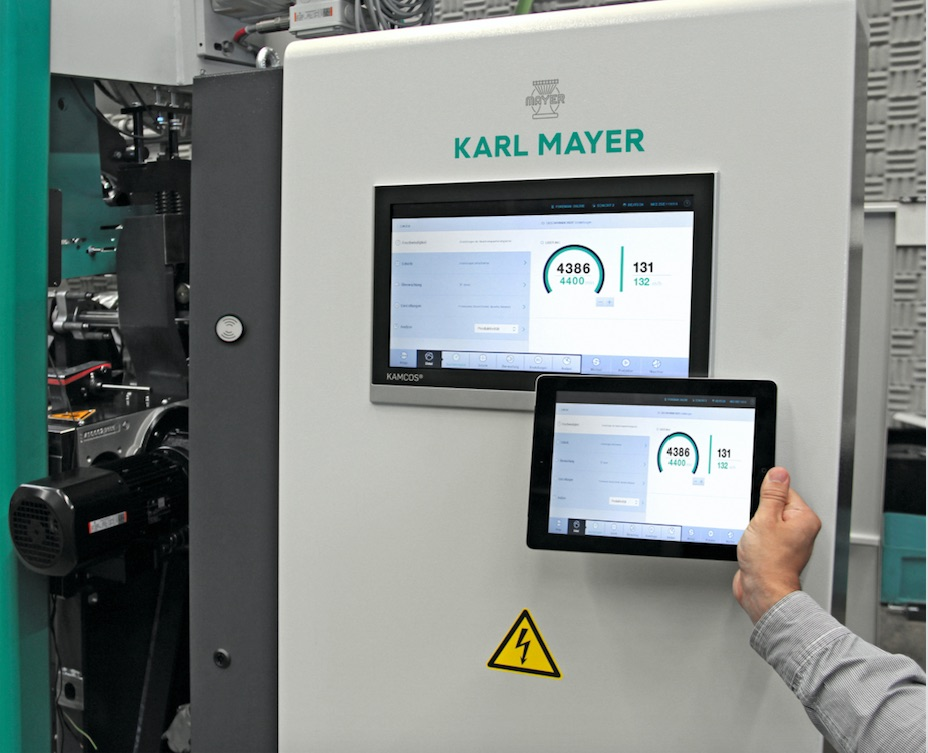 The Karl Mayerconnect app for an easy look at the operation data of the machines by smart phone or tablet