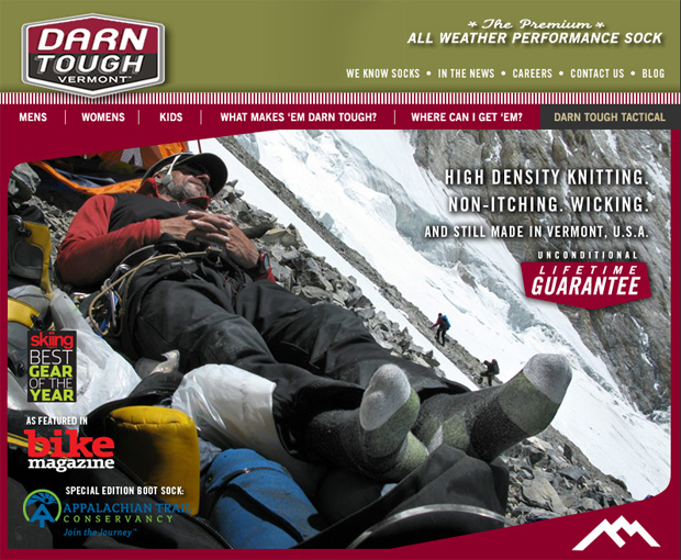The company offers both Specialty and Tactical product lines. © Darn Tough Vermont