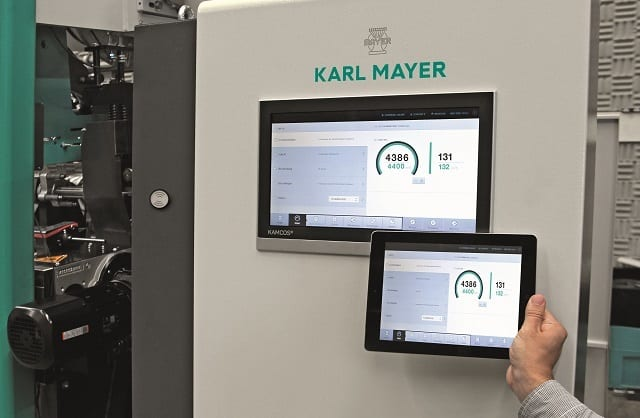 The Karl Mayer CONNECT app for an easy look at the operation data of the machines whilst on the move. © Karl Mayer